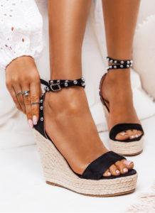 espadryle sandały czarne